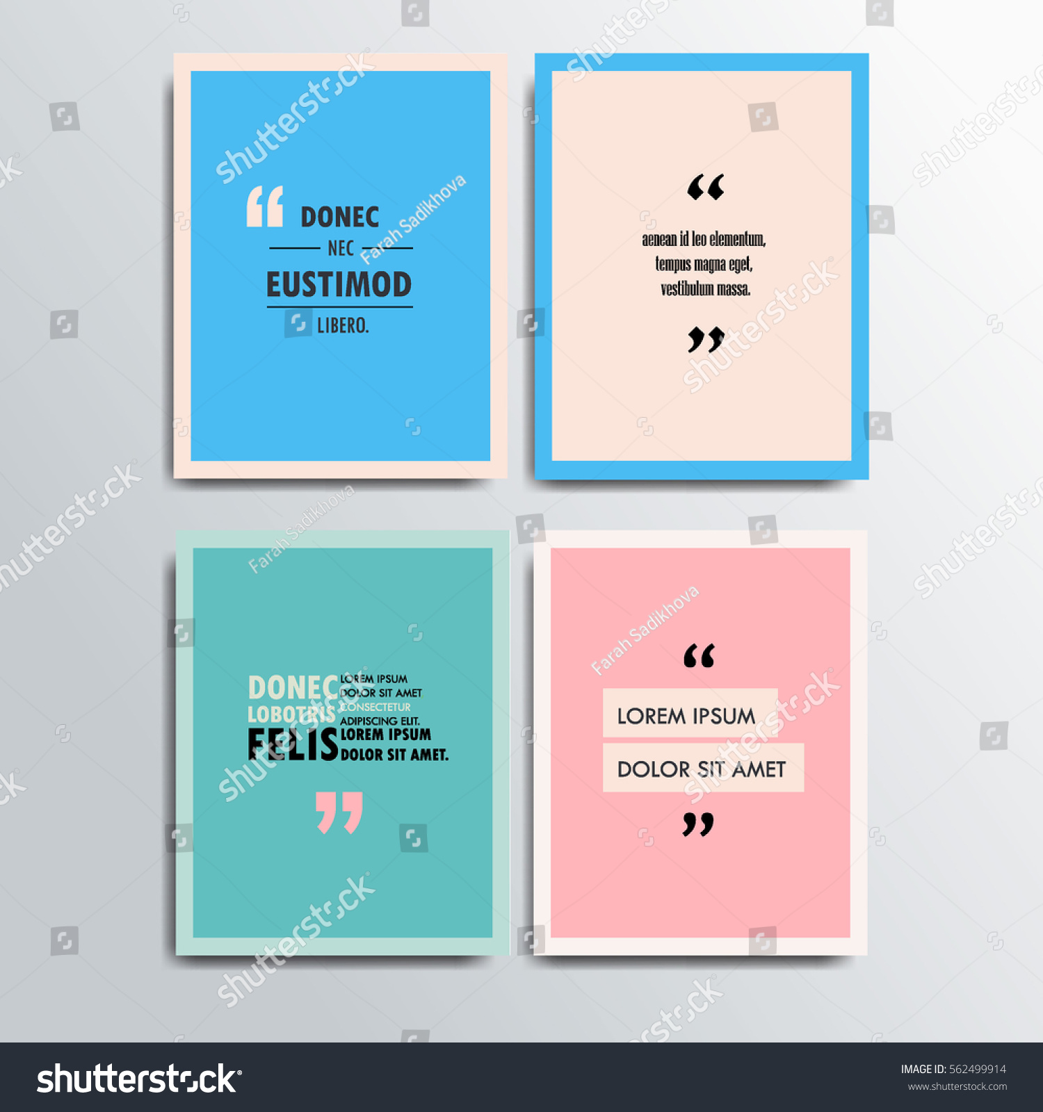 Vector Poster Template Quotes Motivation Quotes Stock Vector