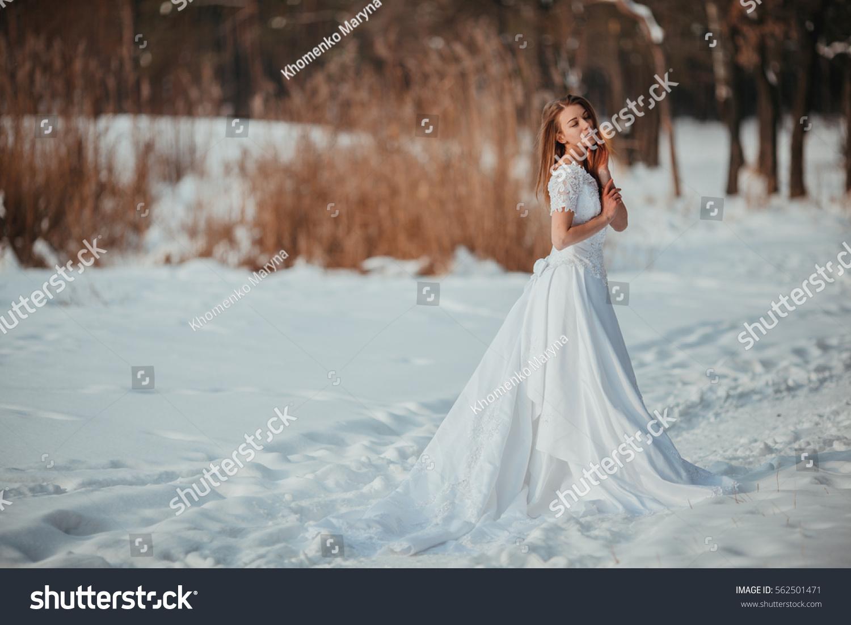 Gorgeous Girl Vintage White Wedding Dress Stock Photo (Edit Now ...