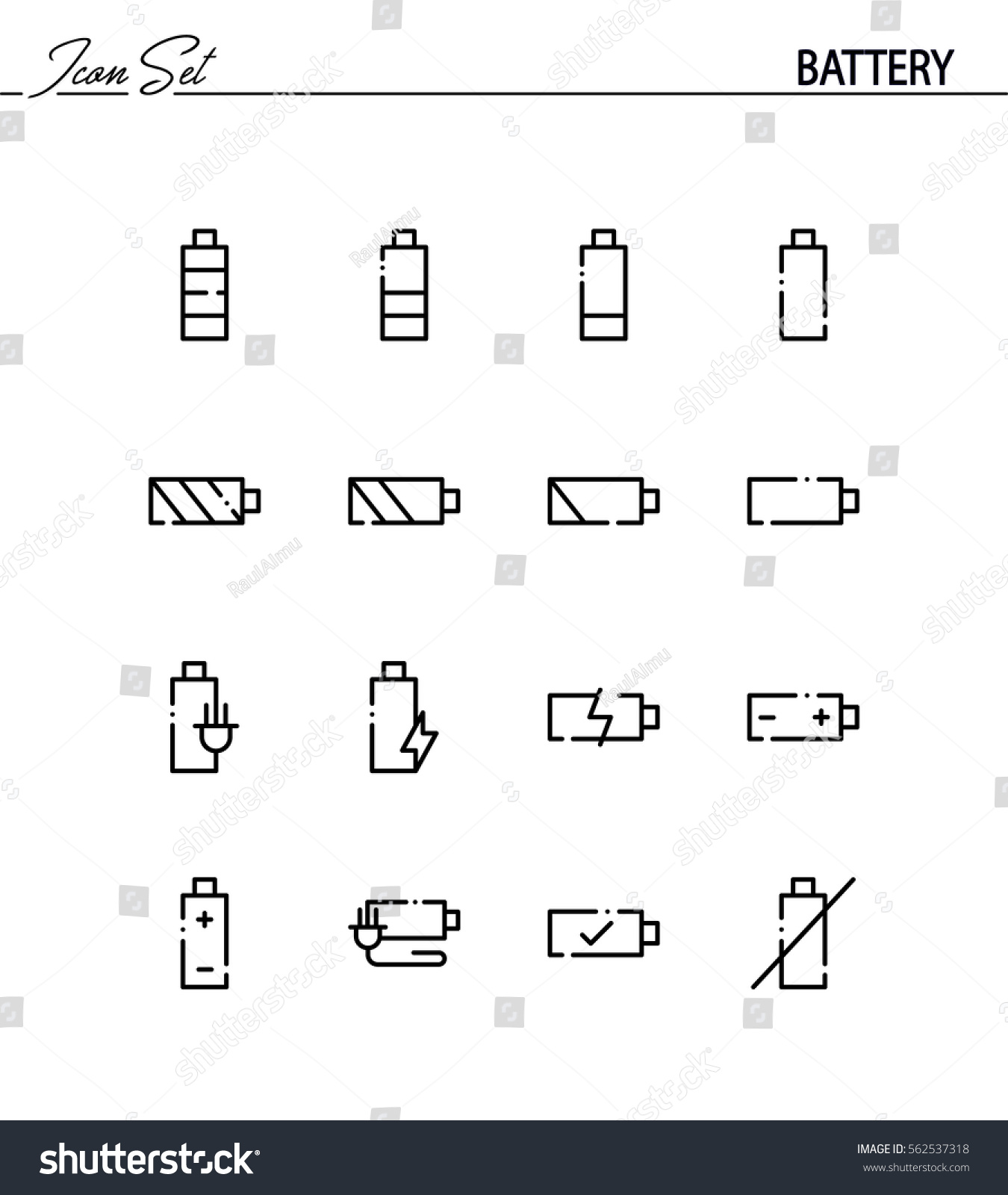 Symbols for battery dolgular battery flat icon set collection high stock vector 562537318 biocorpaavc