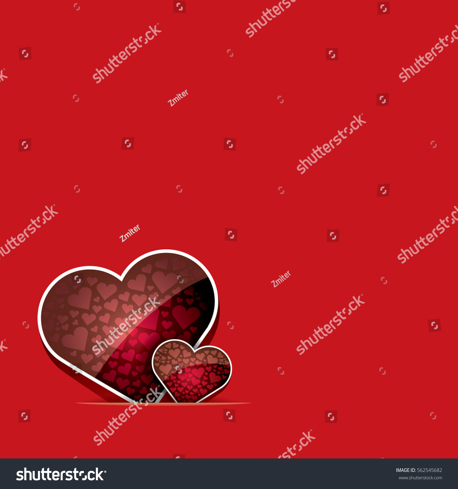 Vector Valentines Day Vector Background Heart Stock Vector 562545682