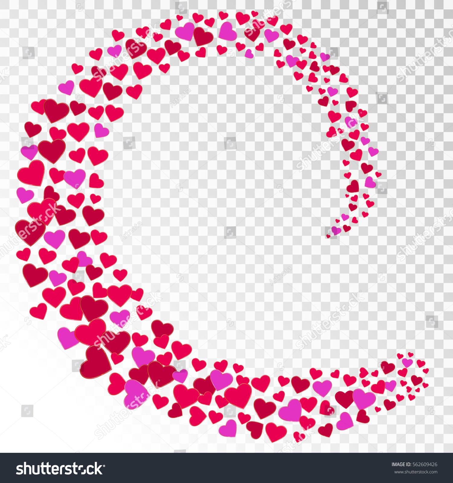Happy Valentines Day Background Colorful Whirl Stock Vector Royalty