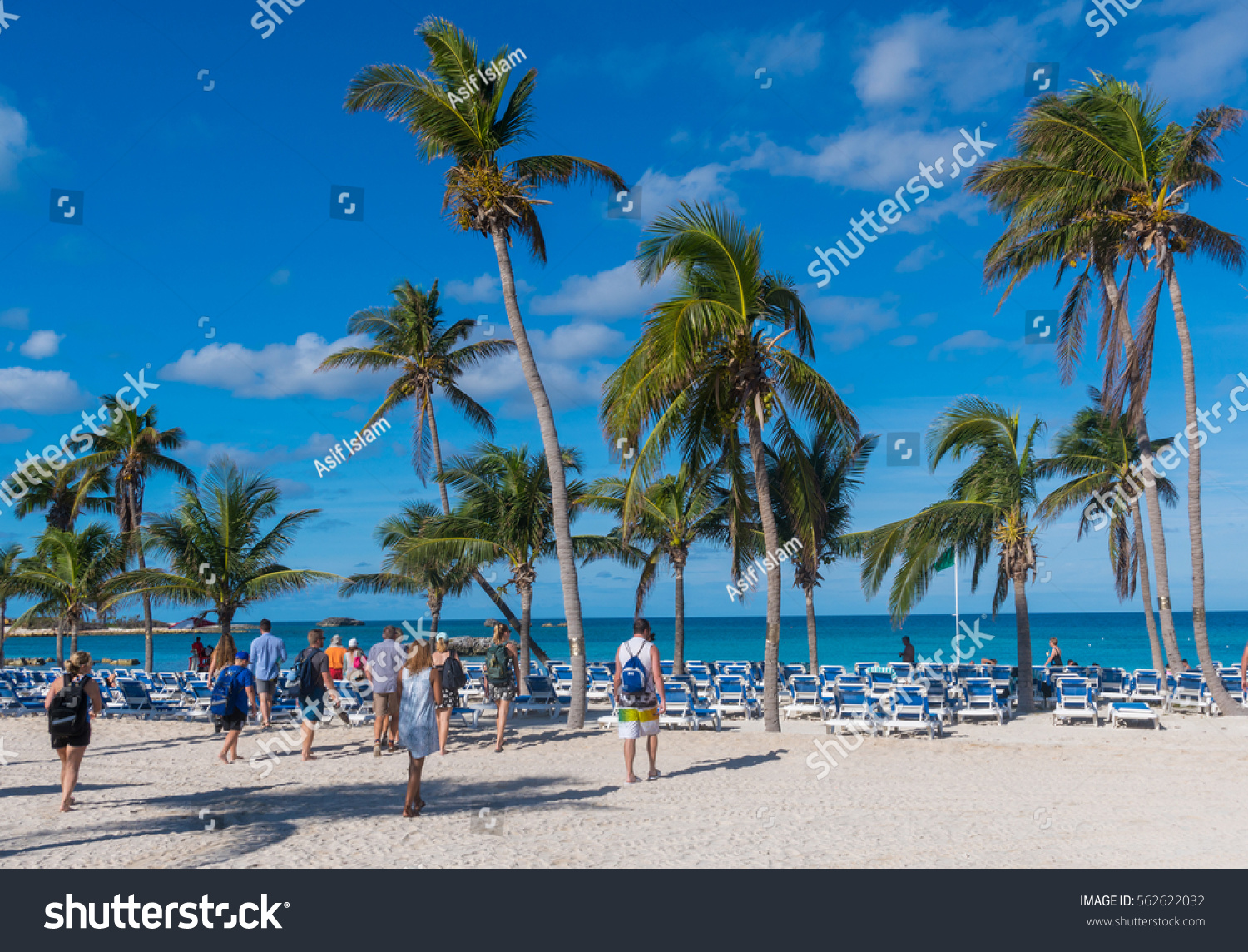 Stirrup Cay Bahamas December People Stock Photo - Bahamas in december