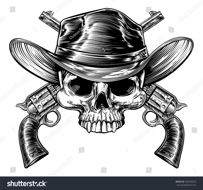 Cowboy Skull Western H...