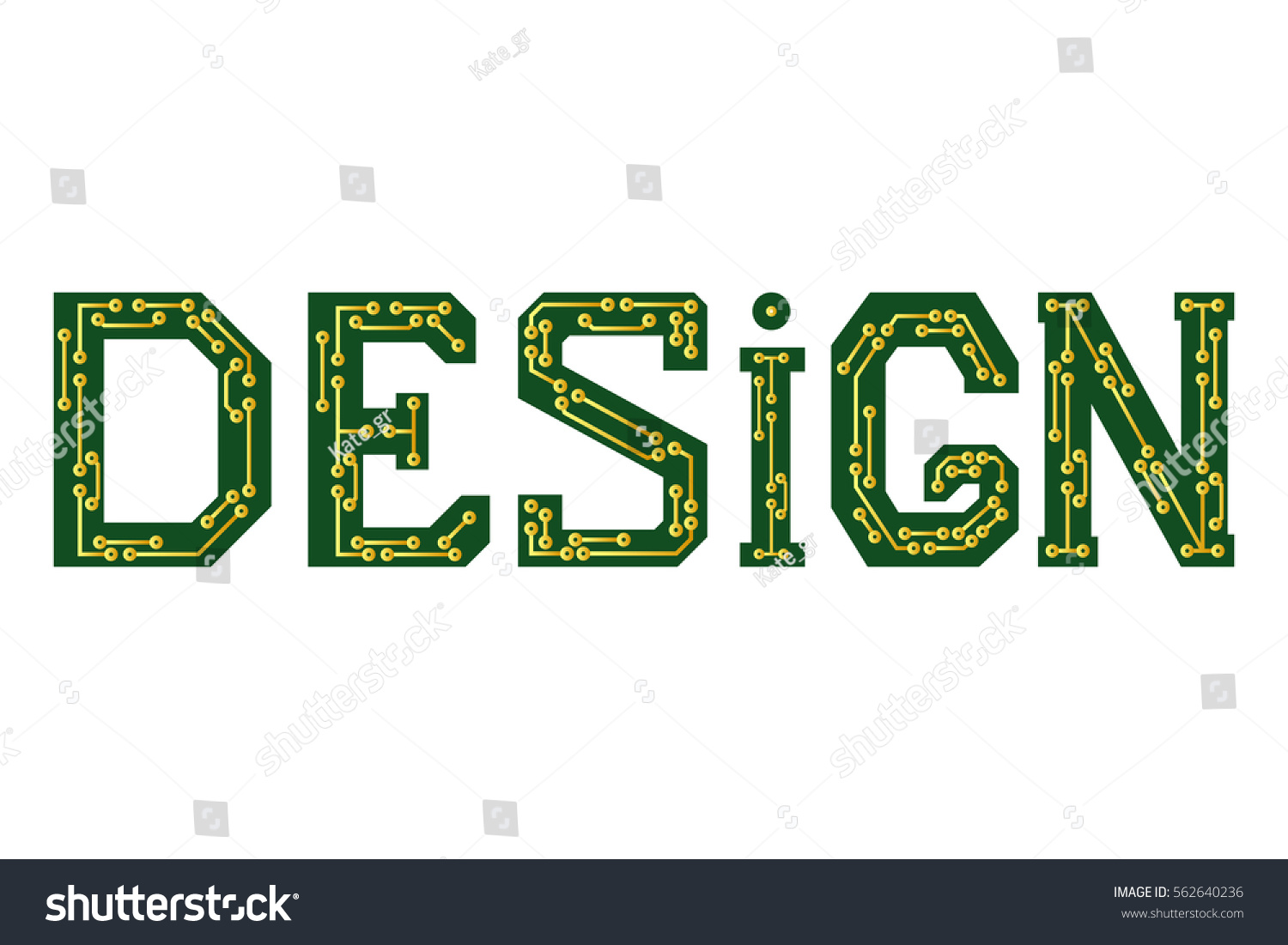 Word Design Circuit Board Hitech Stock Vector Royalty Free How To Boards The Hi Tech Symbol