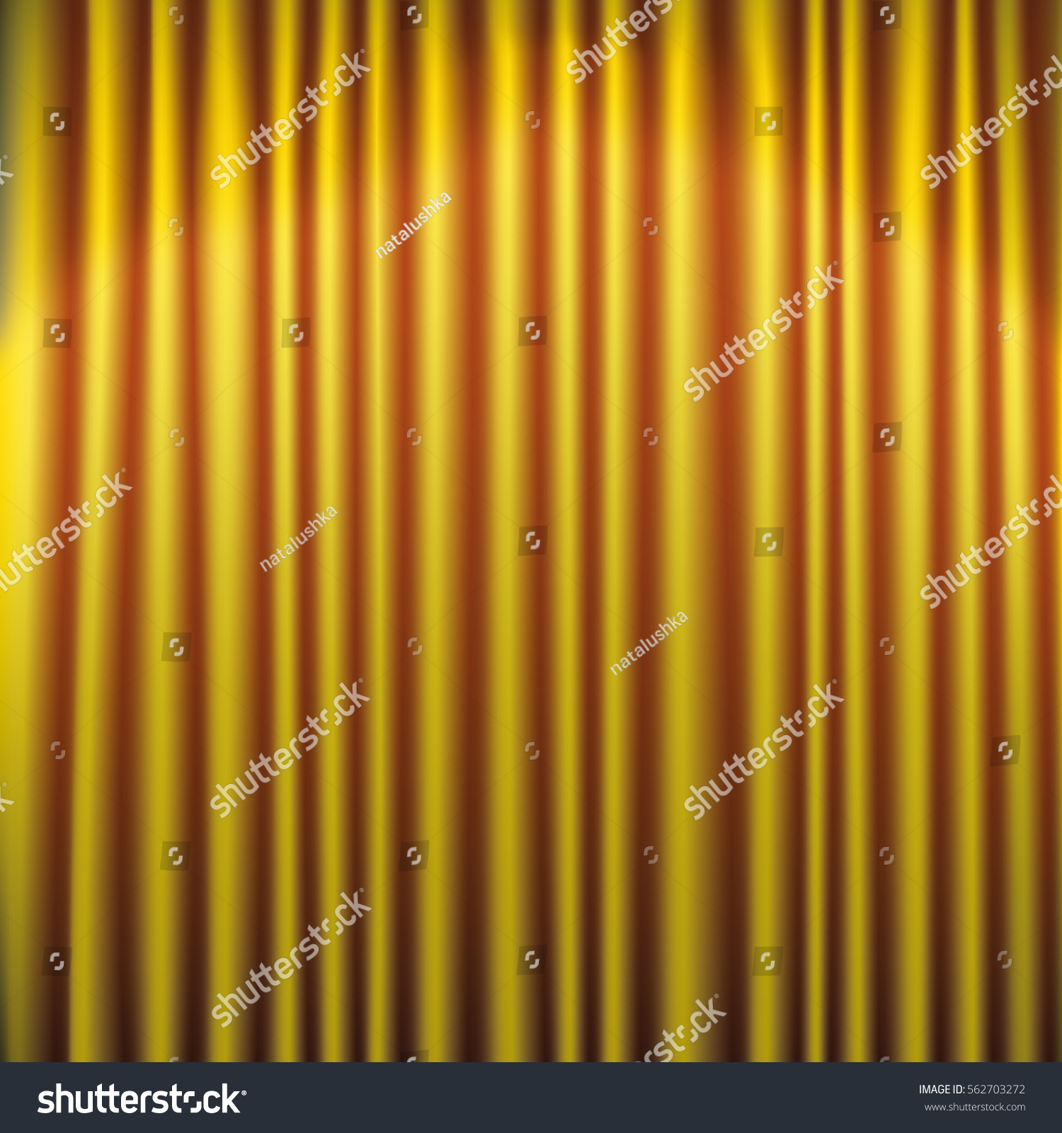Curtains texture gold - Gold Silky Curtain Texture Background Vector Illustration
