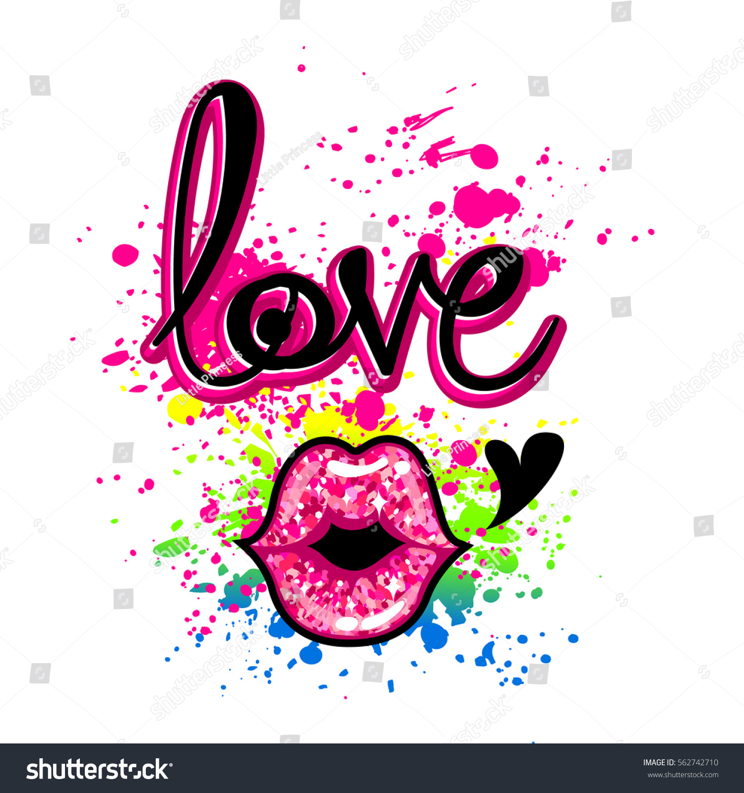 Girlish T Shirt Design Creative Wallpaper Stock Vector Royalty