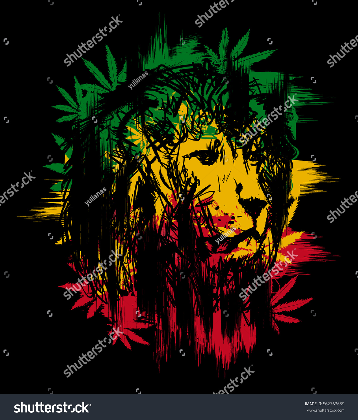 Vector illustration depicting lion dreadlocks symbol stock vector vector illustration depicting a lion with dreadlocks as a symbol of the rastafarian subculture and biocorpaavc Image collections
