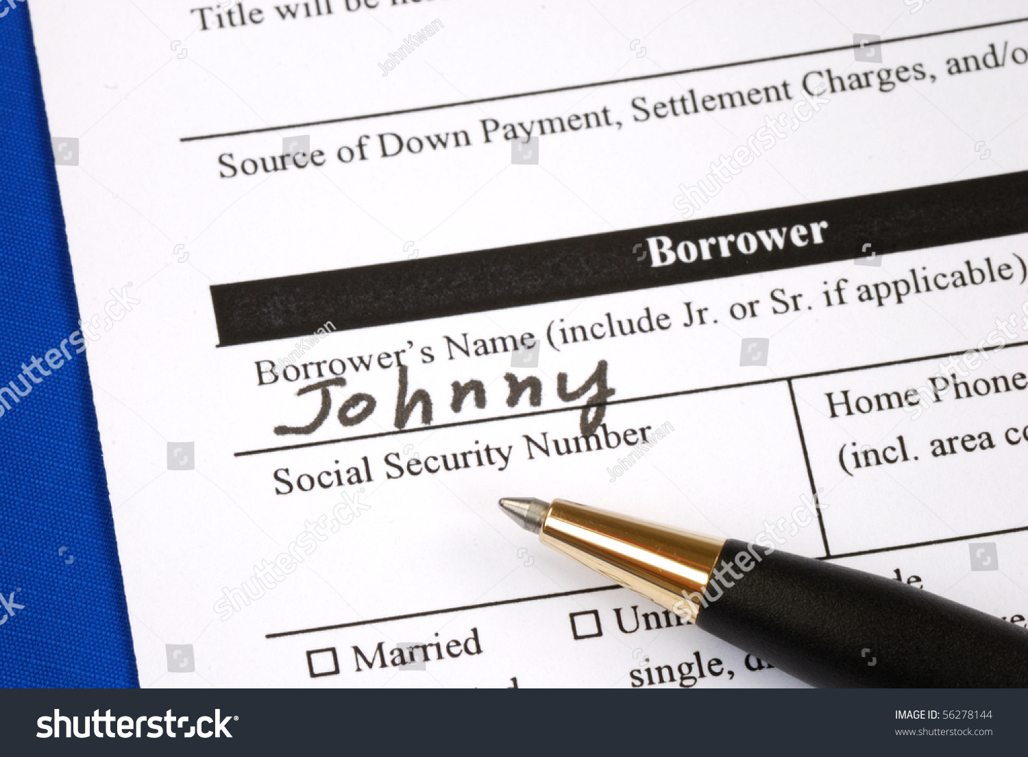 fill out the home mortgage application form stock photo  fill out the home mortgage application form preview save to a lightbox