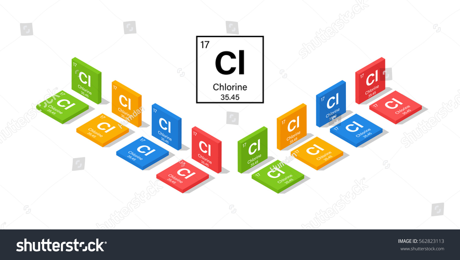 Elements periodic table chlorine 3d isometric stock vector elements in the periodic table chlorine 3d isometric style vector illustration gamestrikefo Images