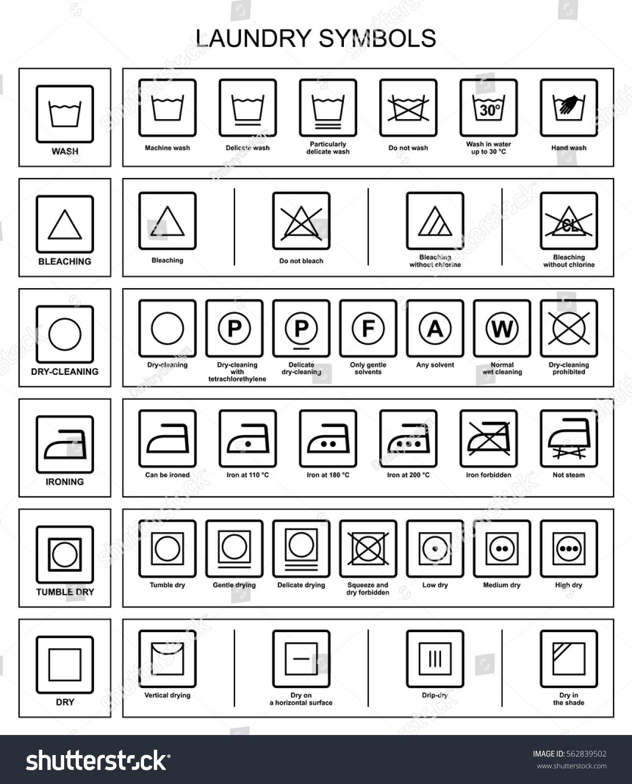 Symbols care textiles laundry symbols vector stock vector symbols for care of textiles laundry symbols in vector buycottarizona