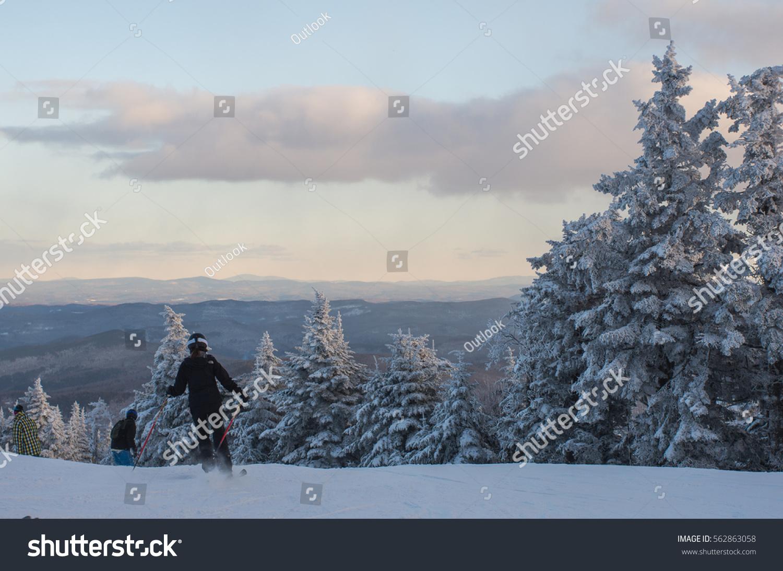 killington mountain ski resort vermont usa stock photo (edit now