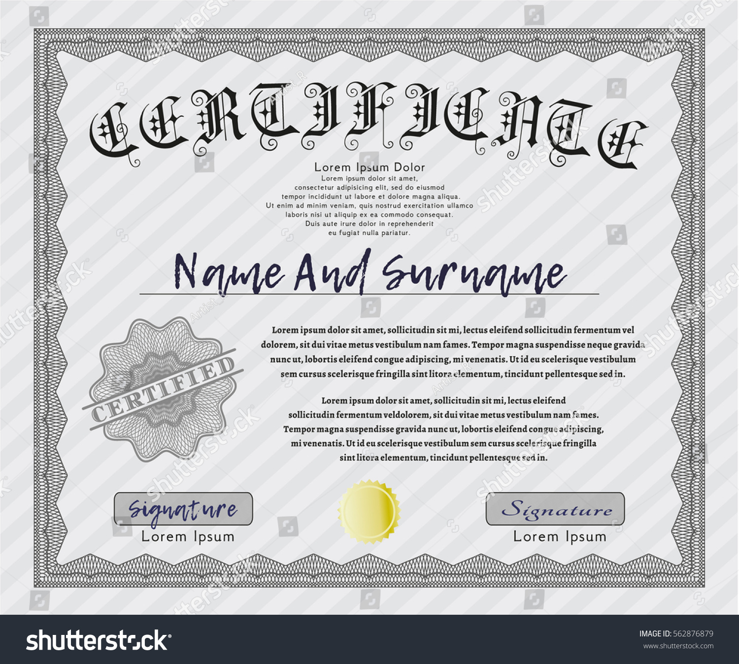 Customizable Certificate Templates  Free Download