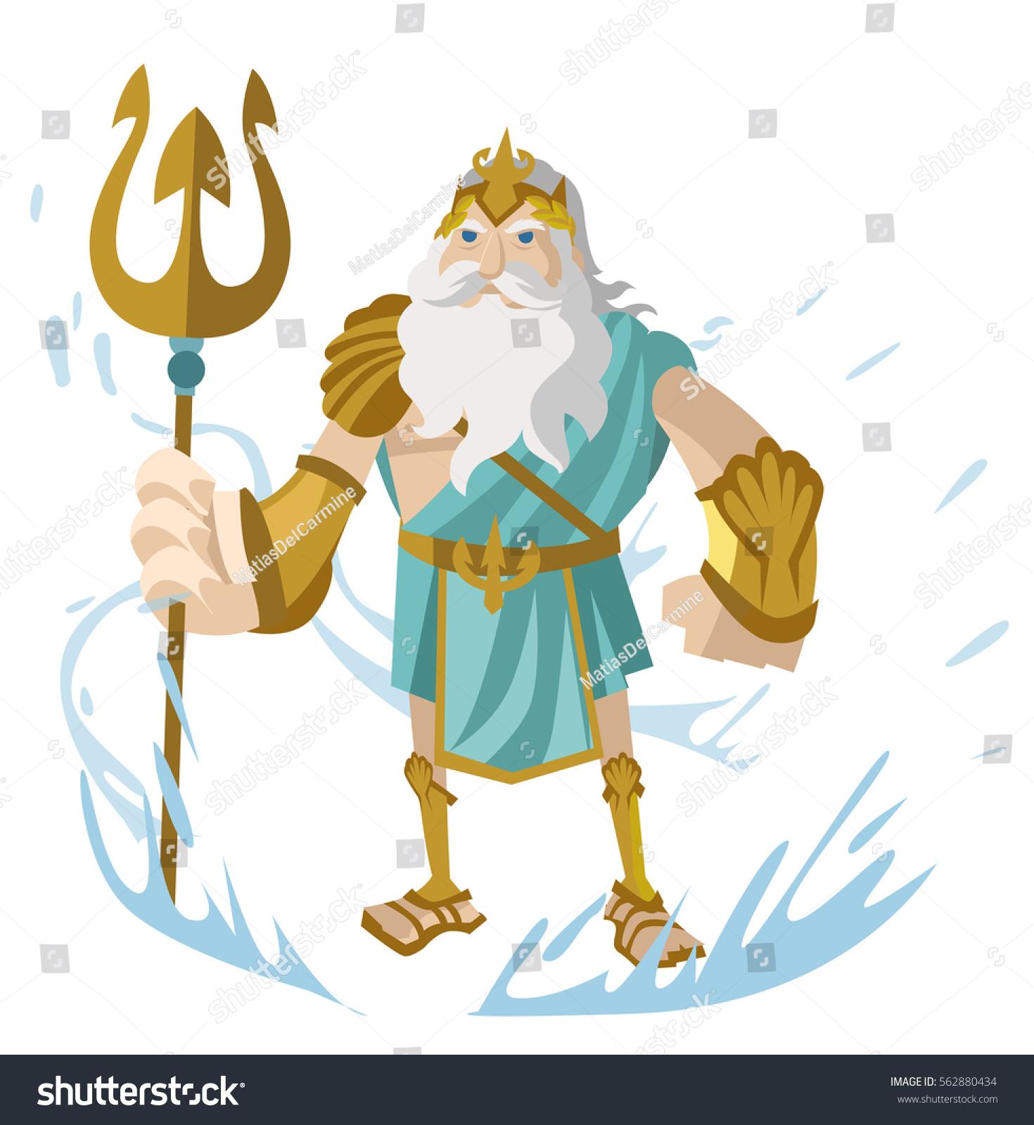 poseidon neptune greek roman god sea stock vector 2018 562880434 rh shutterstock com Greek God Symbols Greek God of Dreams