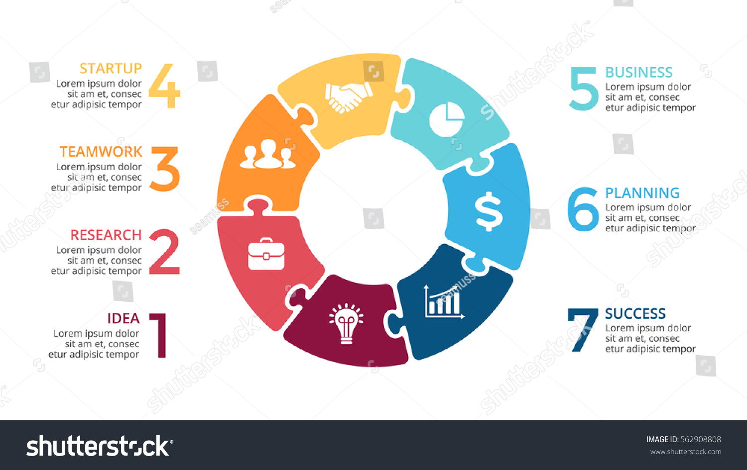 Process cycling arrow by arrow royalty free stock images image - Vector Circle Arrows Puzzle Infographic Cycle Diagram Jigsaw Graph Presentation Chart Business