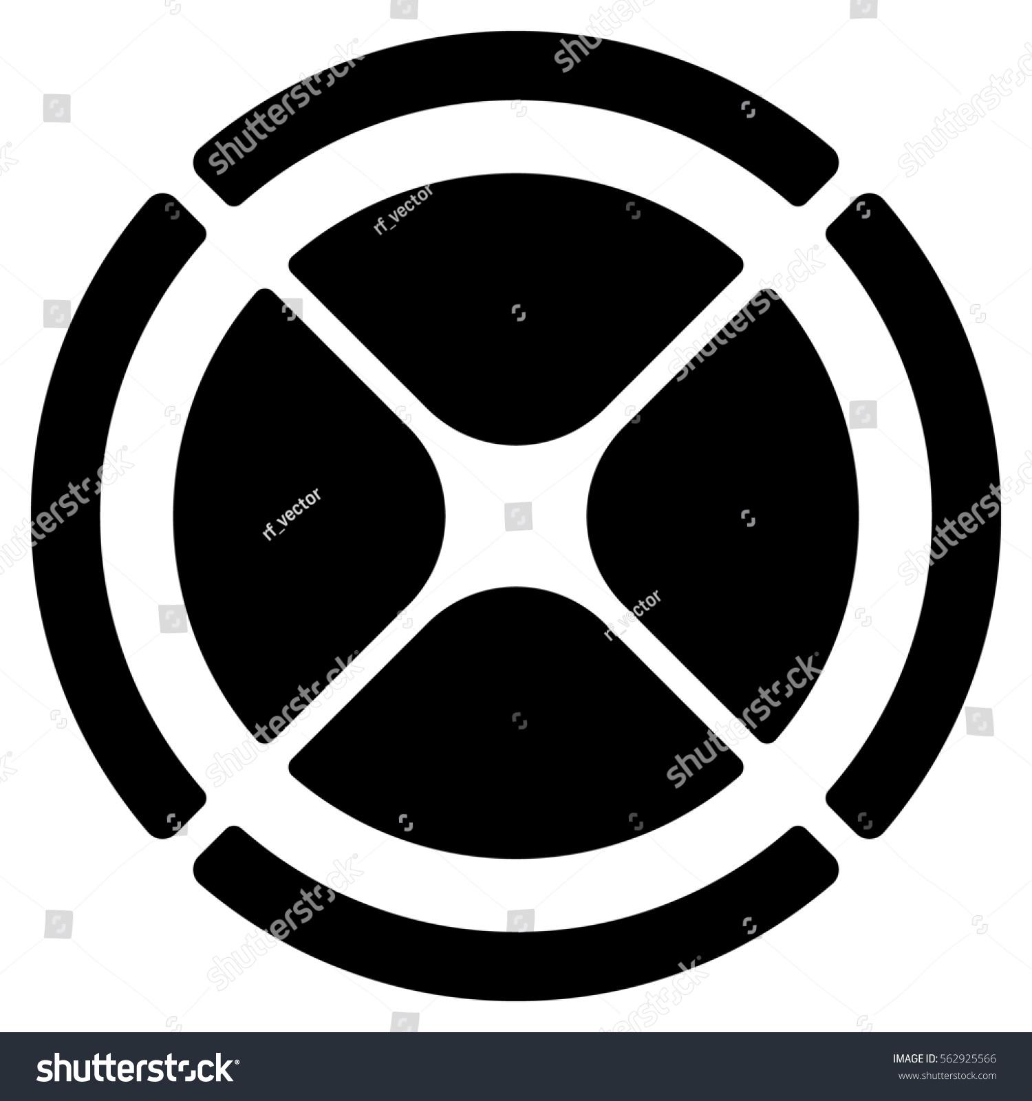 Segmented Circle Crosshair Target Symbol Chart Stock Illustration