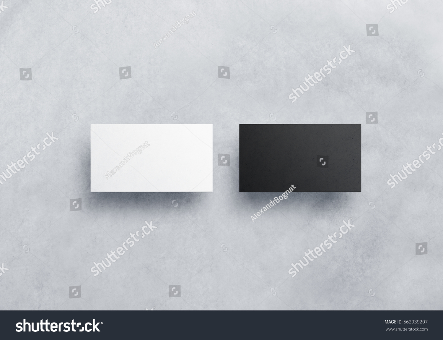 Two Blank Business Card Mockups Isolated Stock Photo (100% Legal ...