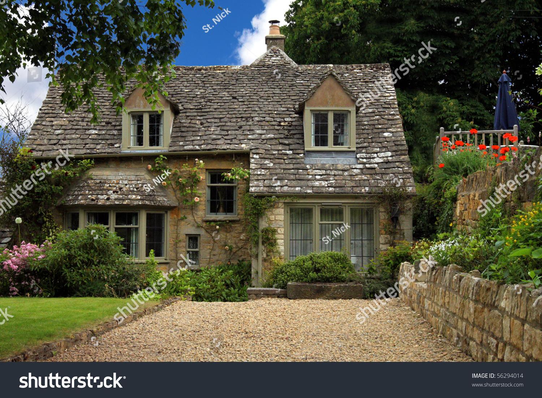 Quaint Cottages In Downham Village In Lancashire, England Uk Stock ...