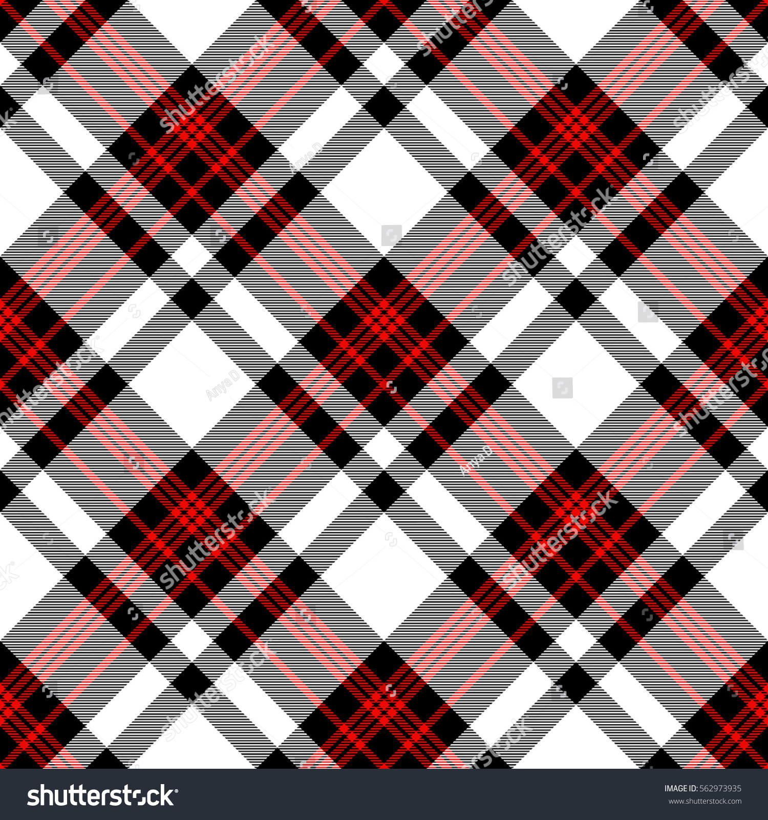 Seamless black and white checkered texture stock images image - Seamless Tartan Plaid Pattern In Stripes Of Red Black And White Checkered Twill Fabric