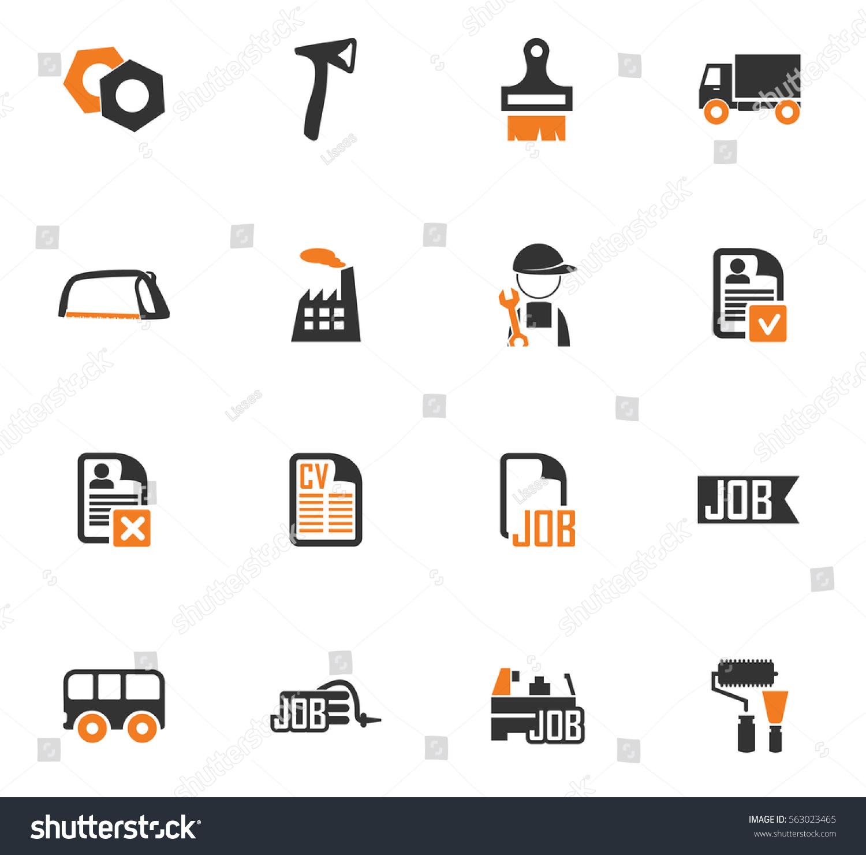 job icon set web sites user stock vector shutterstock job icon set for web sites and user interface