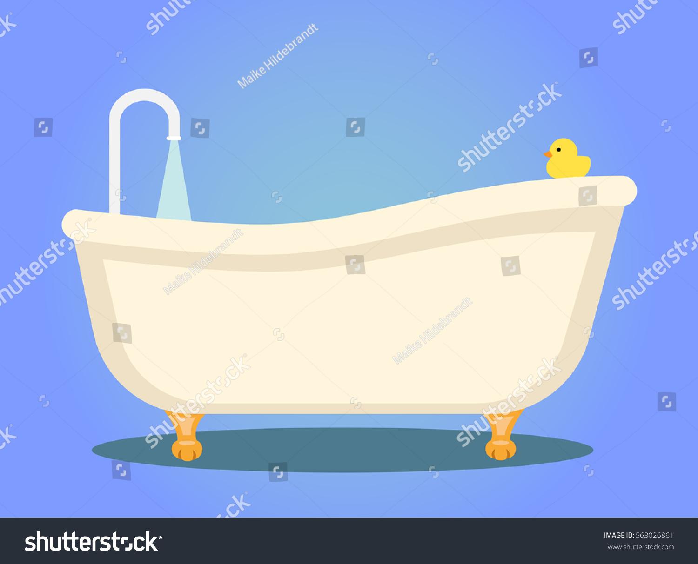 Nostalgic Bath Tub Legs Flat Design Stock Vector HD (Royalty Free ...