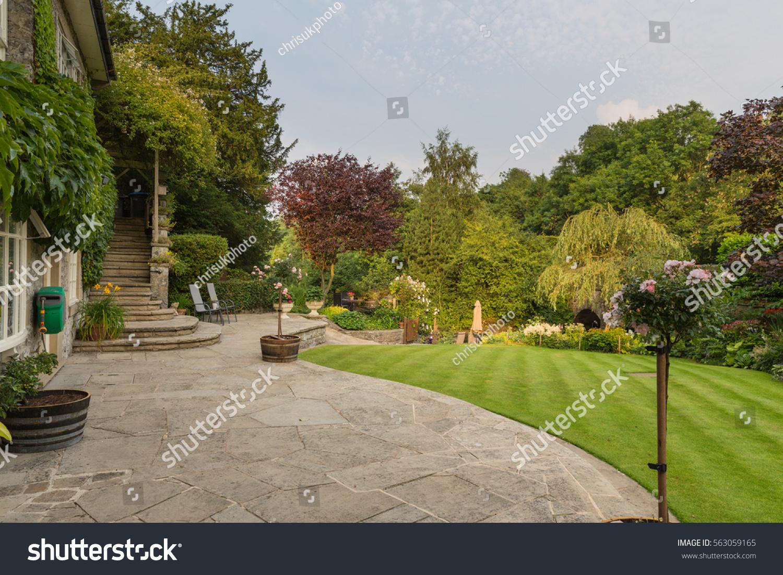 English country garden peak district derbyshire stock for Garden design derbyshire