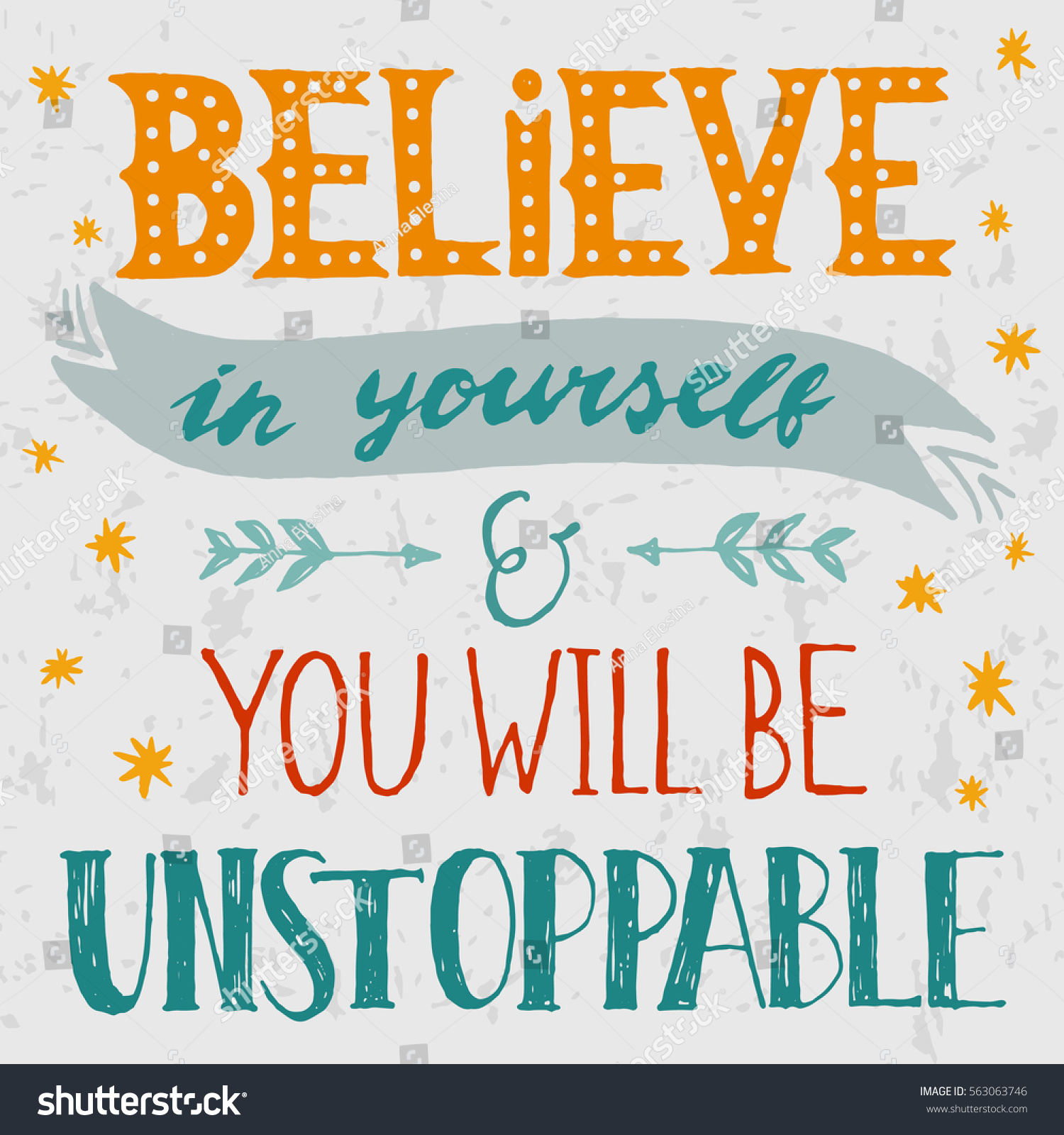 Quote About Yourself Inspirational Quote Believe Yourself You Will Stock Vector