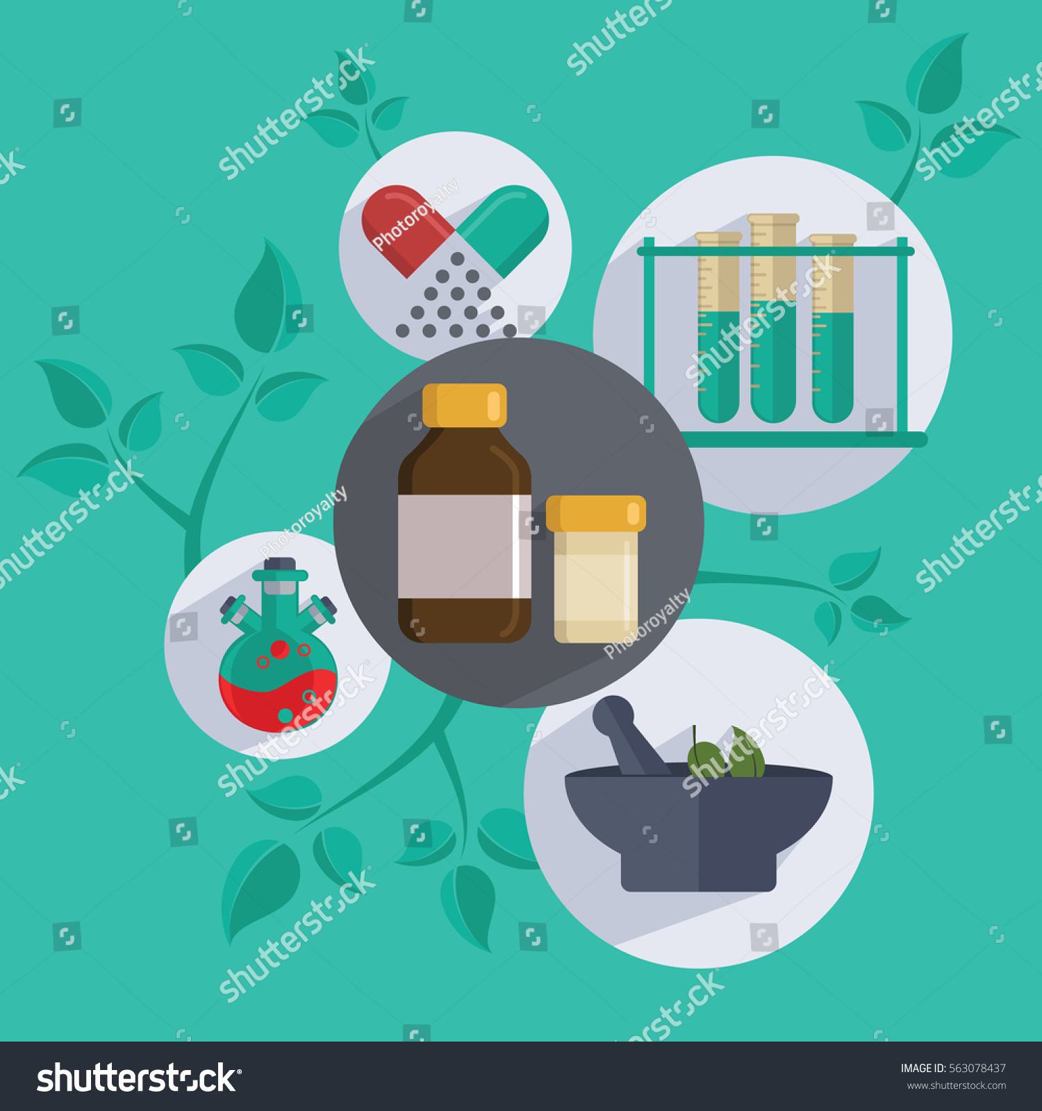 Center for holistic herbal therapy - Herbal Medicine Alternative Medicine Centre Vector Concept Holistic Center Naturopathic Medicine Homeopathy