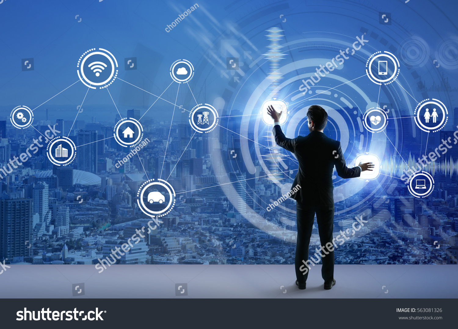 young business person graphical user interface stock photo