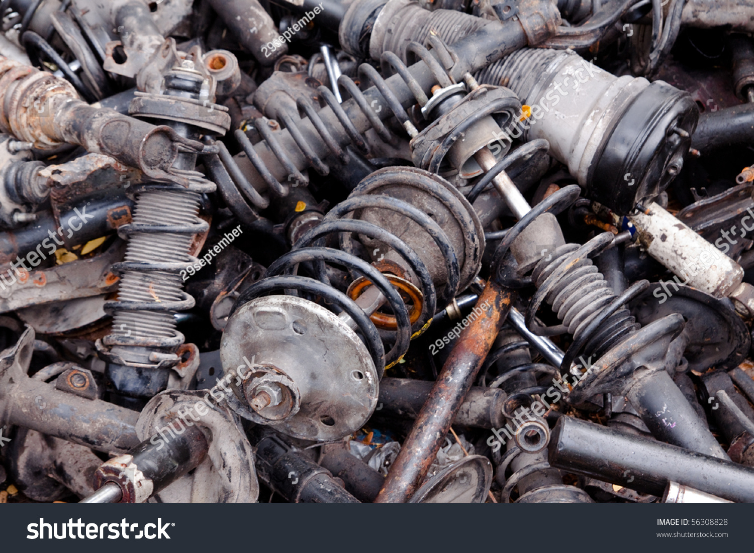 Royalty Free Metal Waste And Scrap The Old Car Parts 56308828