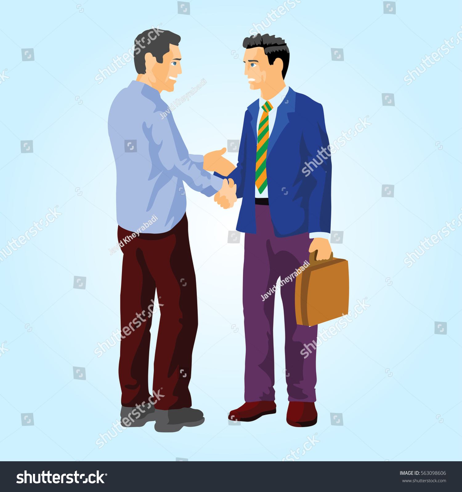 People Greet Each Other Stock Illustration 563098606 Shutterstock