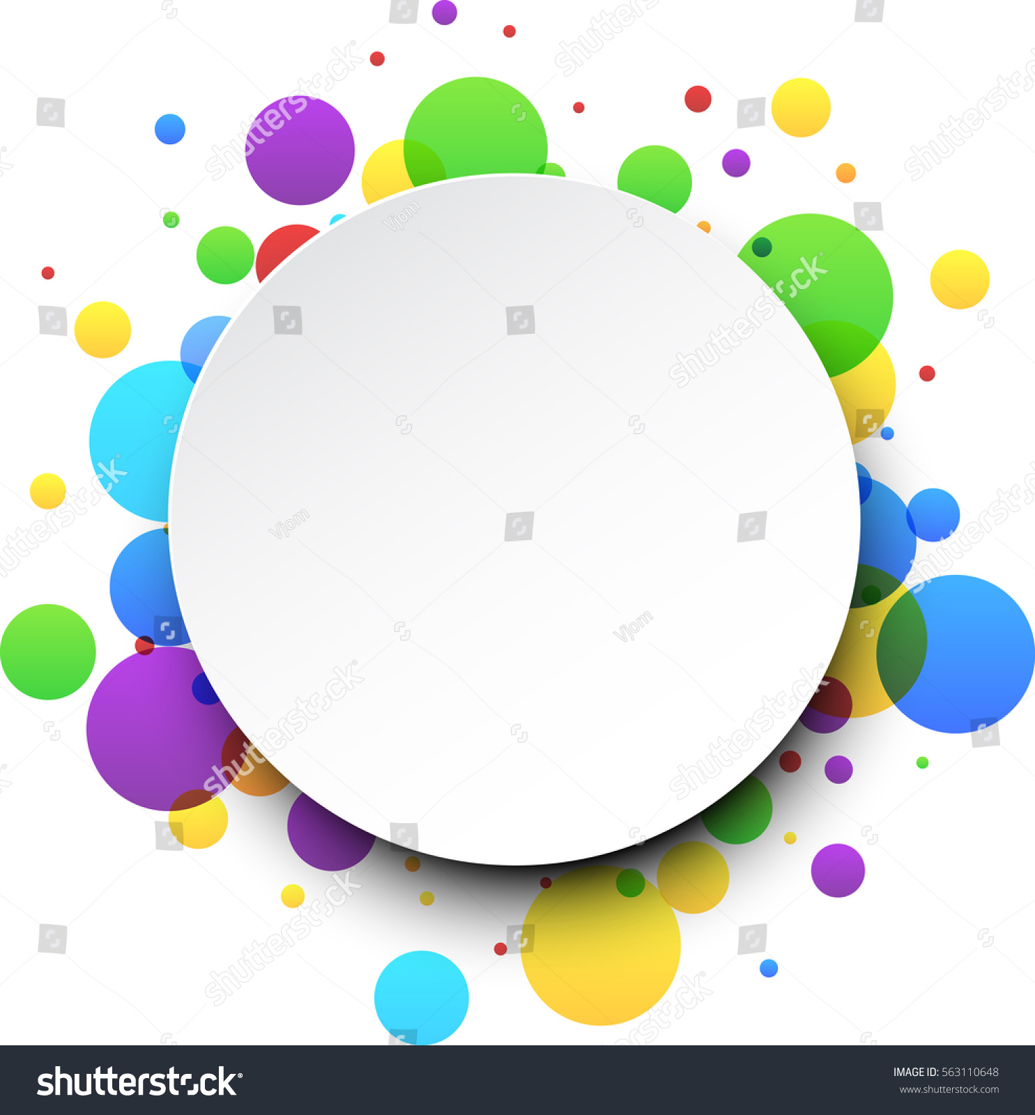 stock vector round abstract white background with color bubbles vector paper illustration 563110648