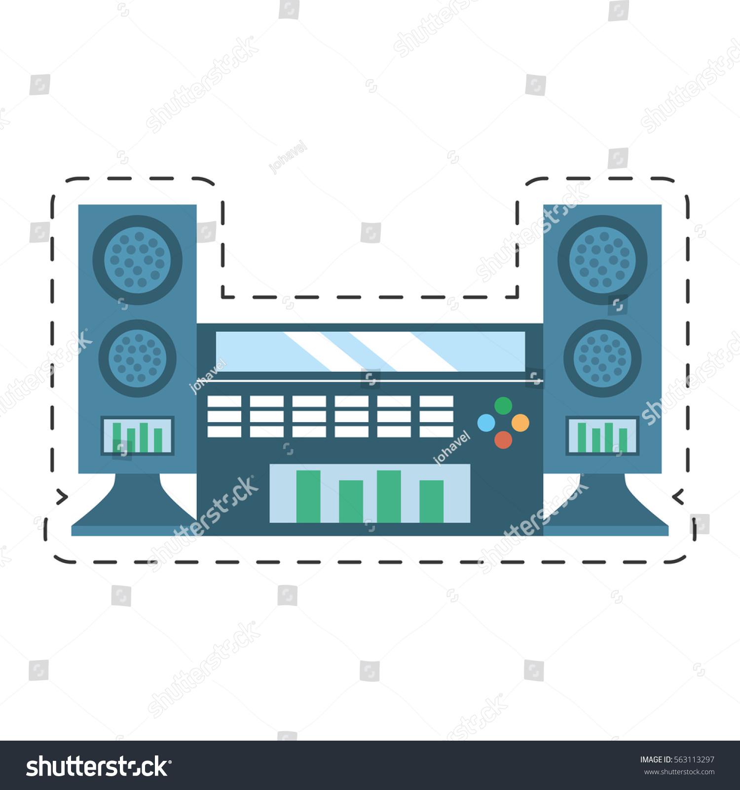 Home Theater Cinema Music Vector Illustration Stock Vector 563113297 ...