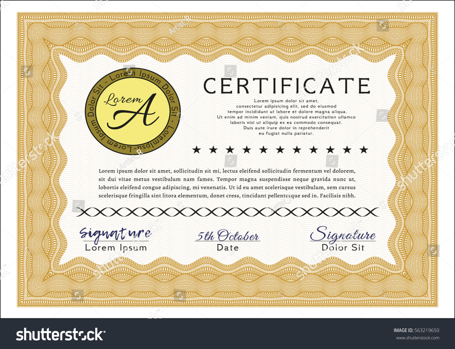 Stock certificate template stock certificate powerpoint templates crystalgraphics what would you do if your boss asked you to prepare share stock certificate templates for your yadclub Choice Image