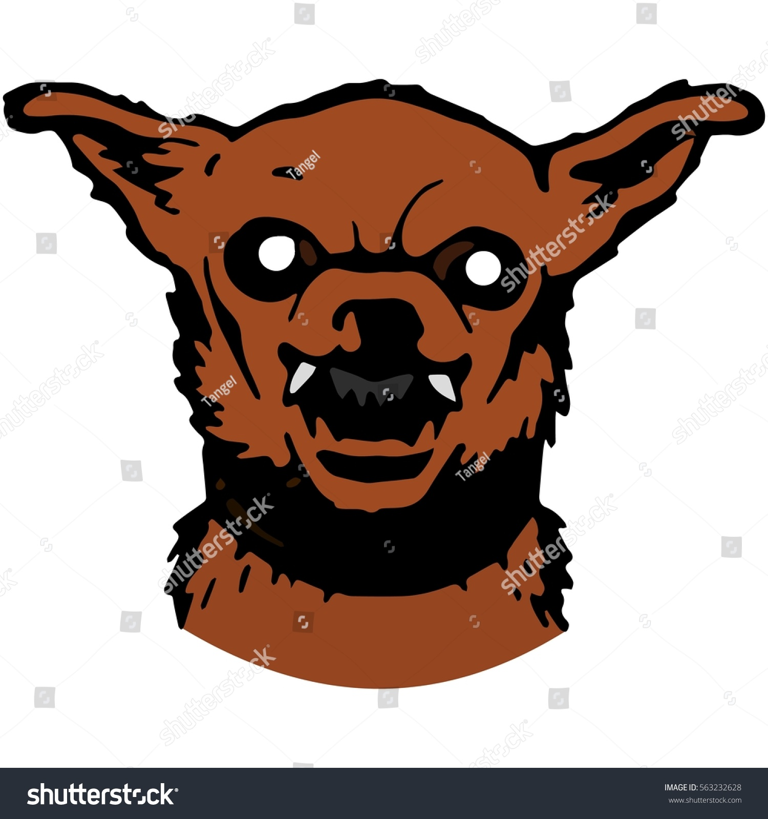 List of Synonyms and Antonyms of the Word: evil dog cartoon