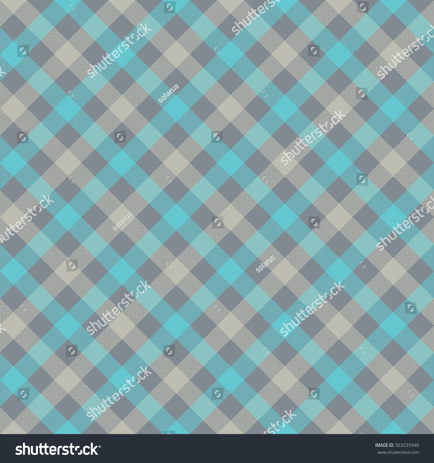 Blue Gray Check Plaid Fabric Texture Stock Vector 563235940 ...