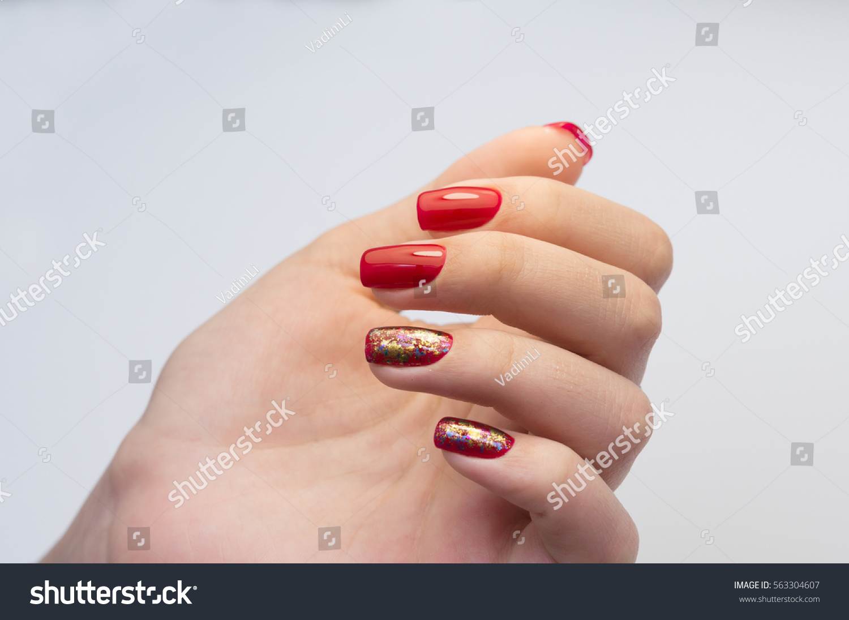 Amazing Manicure Natural Nails Gel Polish Stock Photo (Edit Now ...