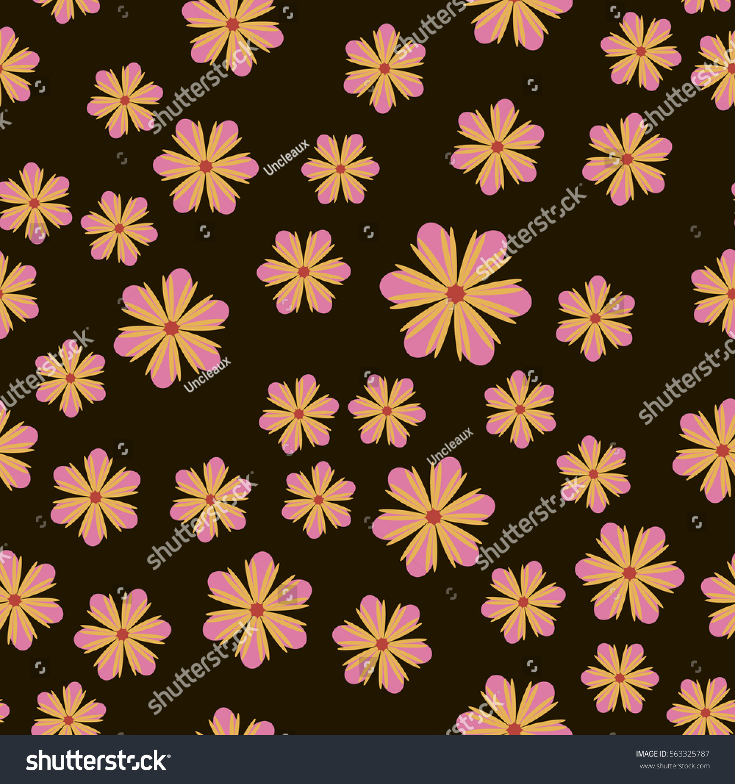 Exquisite Floral Ornament With Random Flowers For Fabric Wrapping