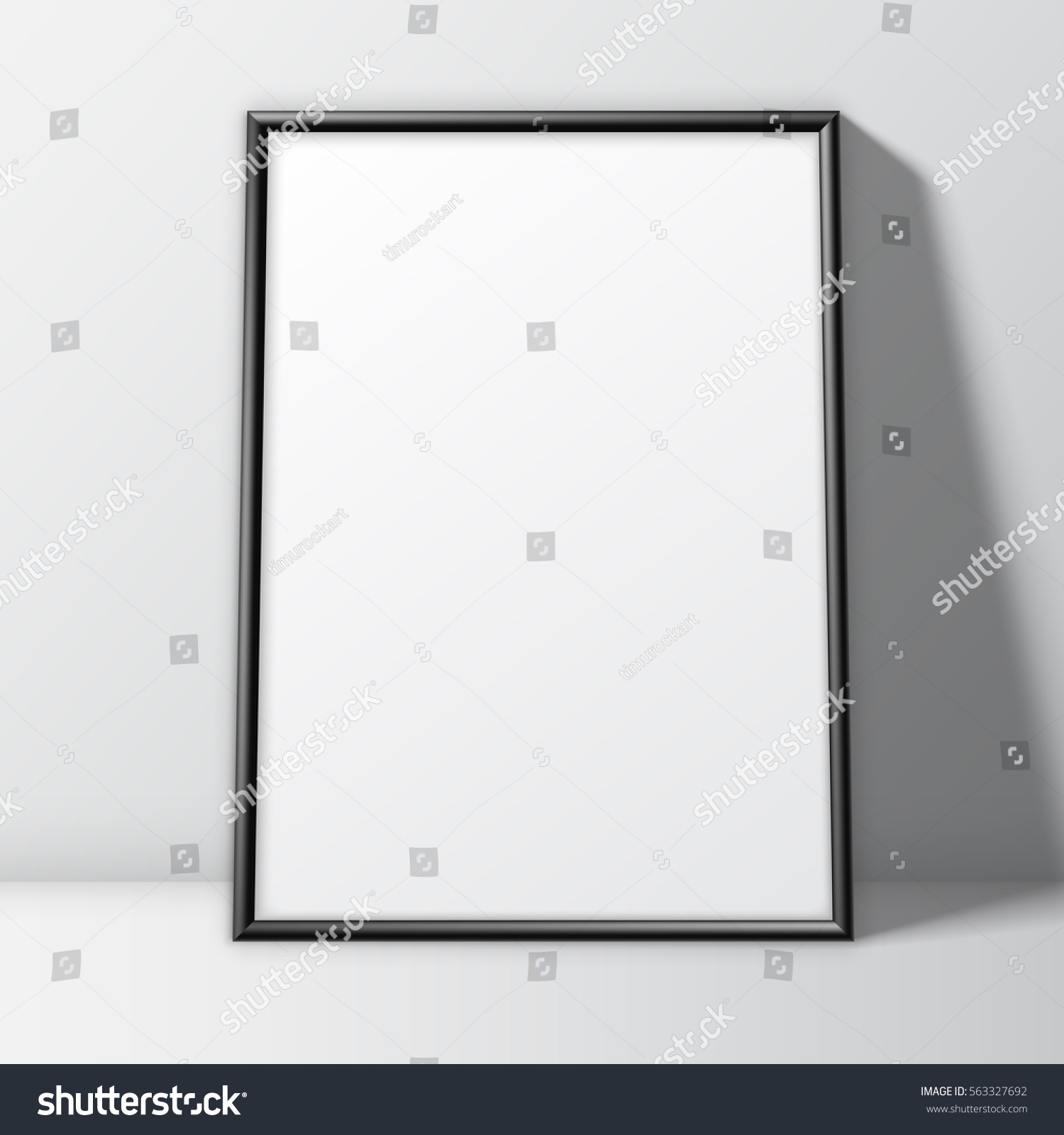 Blank White Paper Poster Thin Black Stock Vector Royalty Free