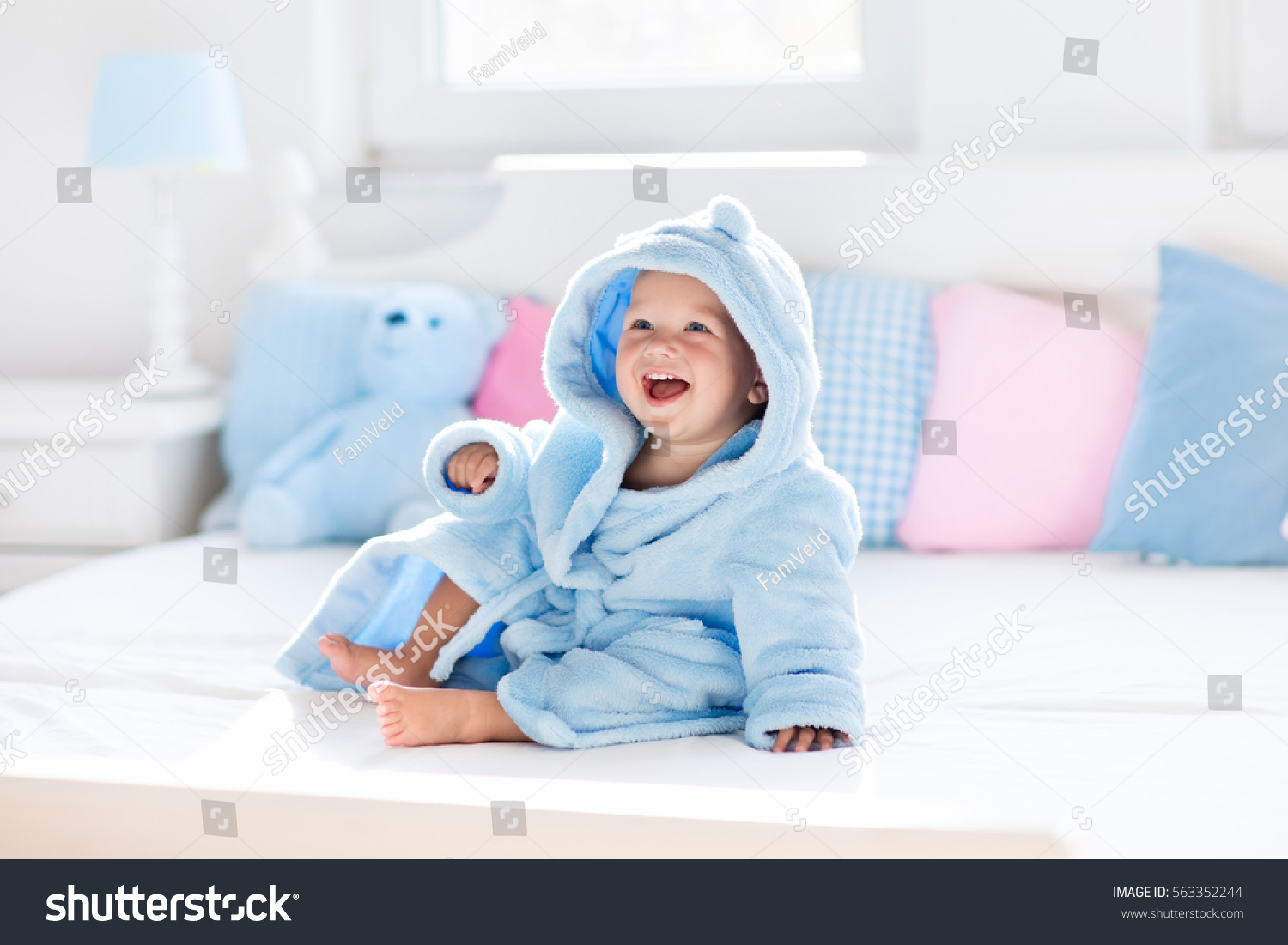Cute Happy Laughing Baby Boy Soft Stock Photo (Royalty Free ...