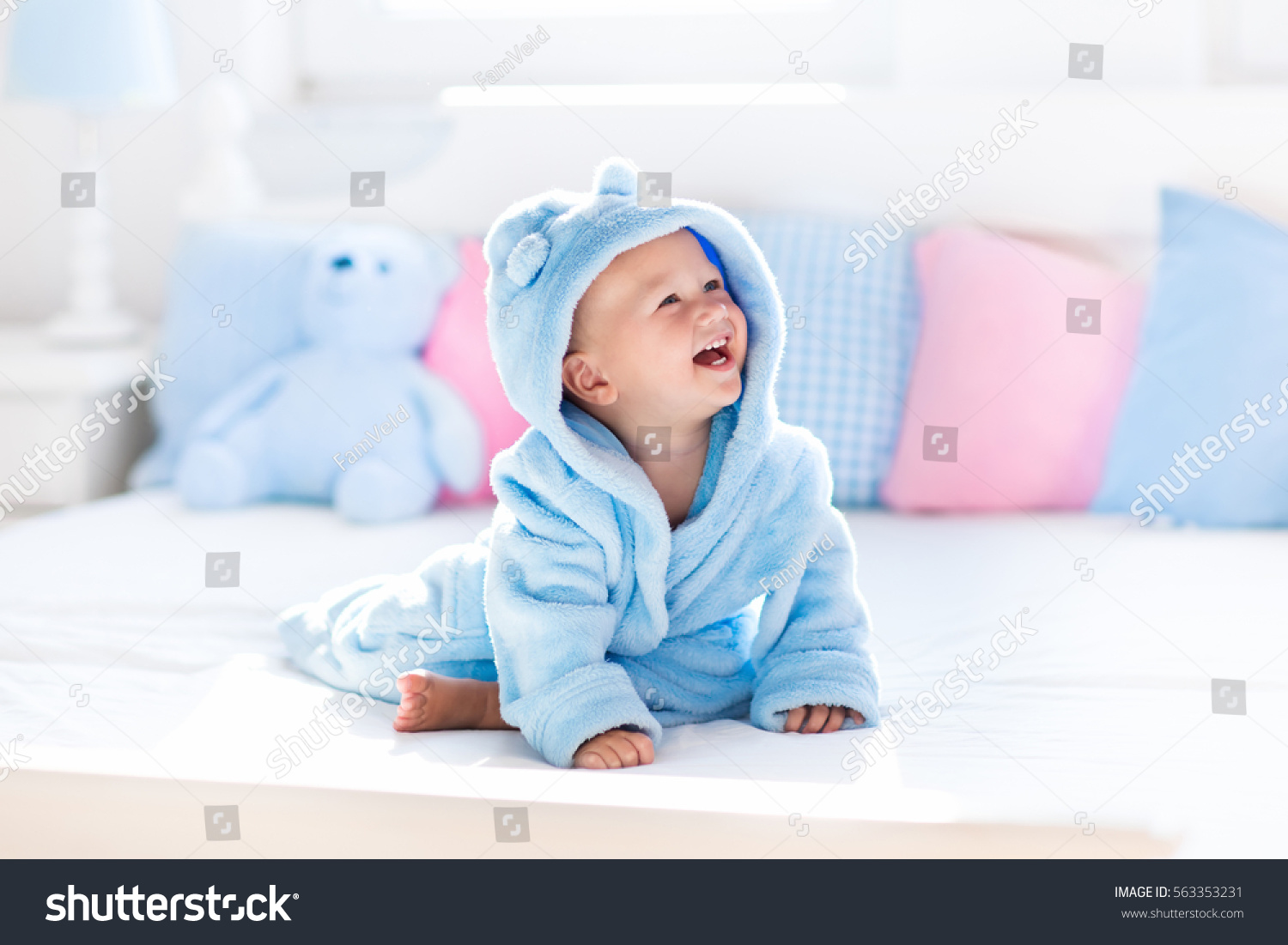 Cute Happy Laughing Baby Boy Soft Stock Photo & Image (Royalty-Free ...