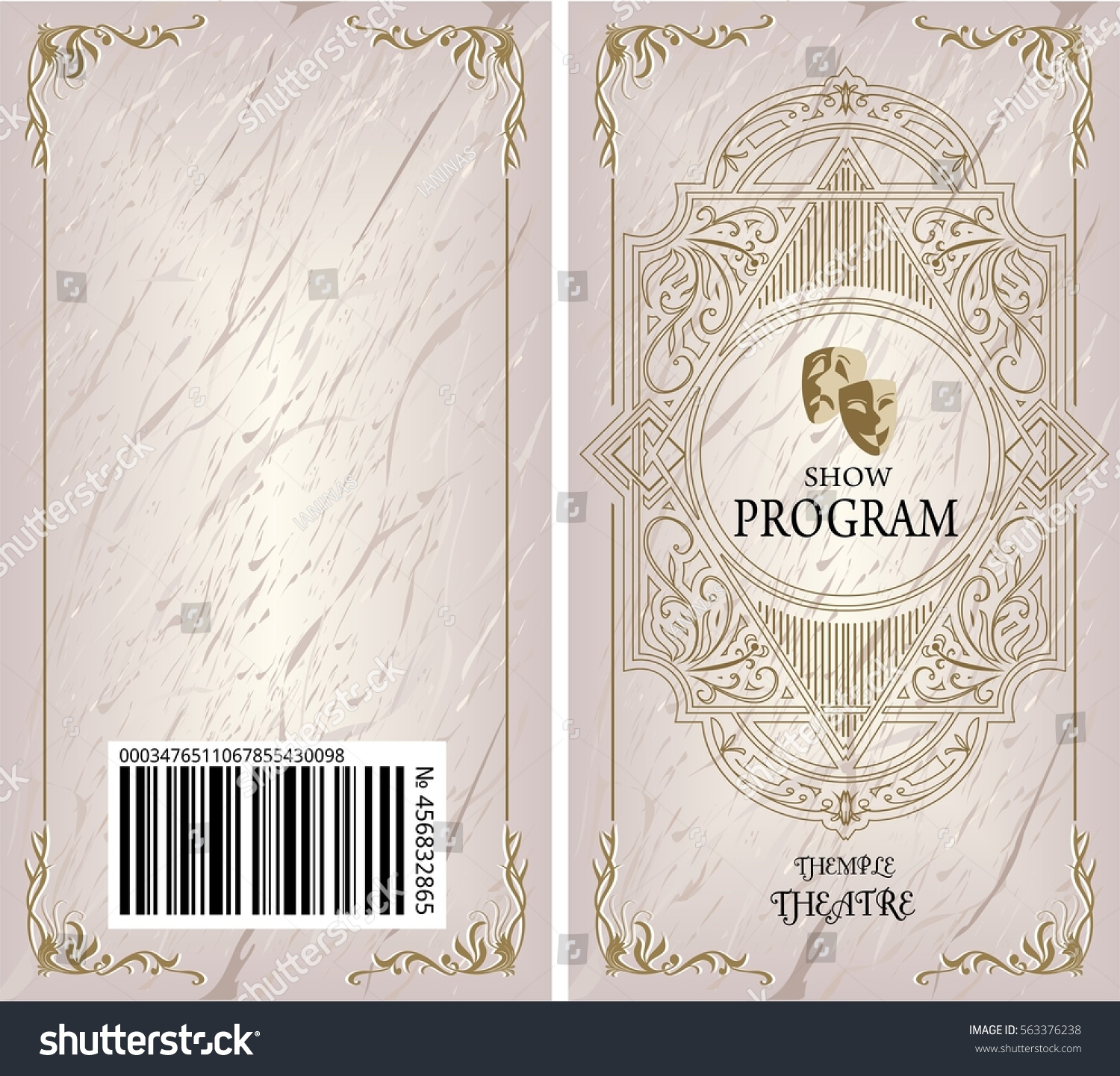 theater program booklet brochure cover book stock vector royalty