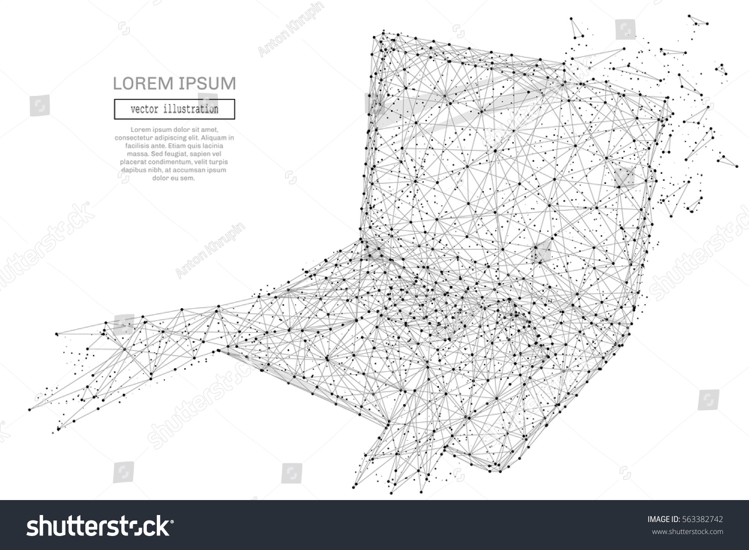 Abstract moving background white dots connected on fresh green stock - Grey Laptop With Polygon Line On Abstract Background Polygonal Space Low Poly With Connecting Dots