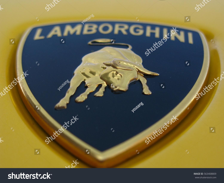 Beijing April 4 2016 Lamborghini Logo Stock Photo Edit Now