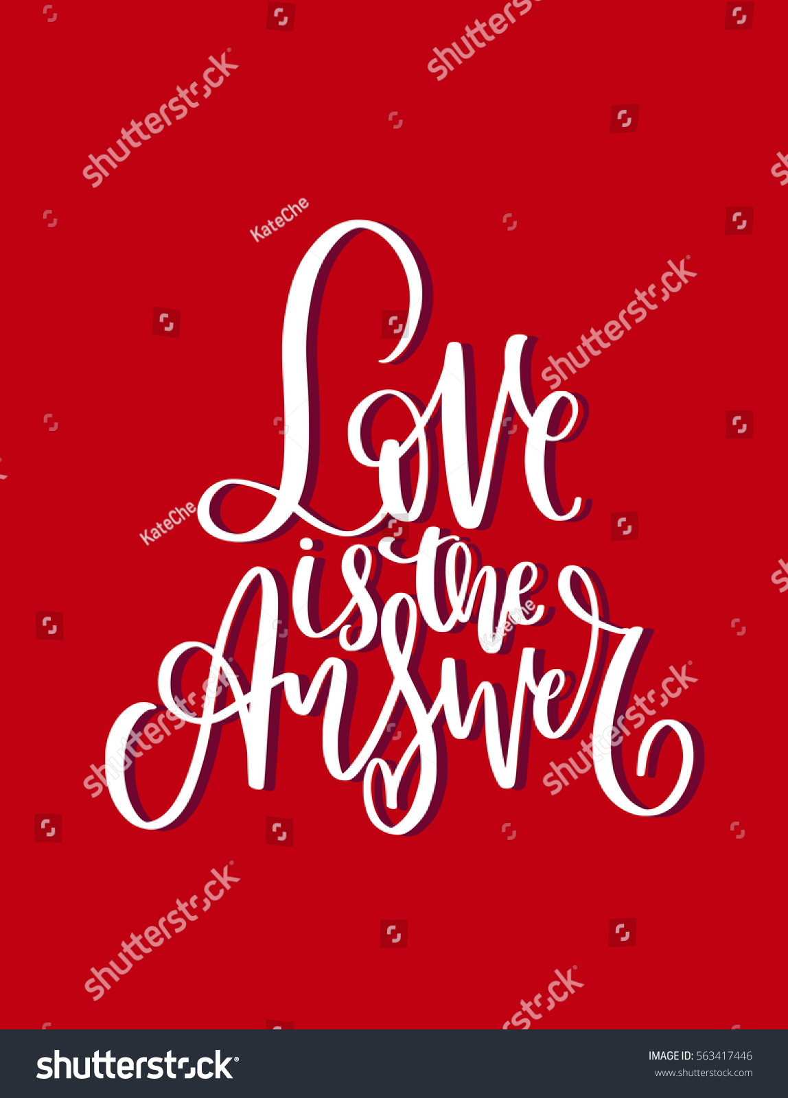 Handwritten Romantic Messages Wishes Valentines Day Stock Vector ...
