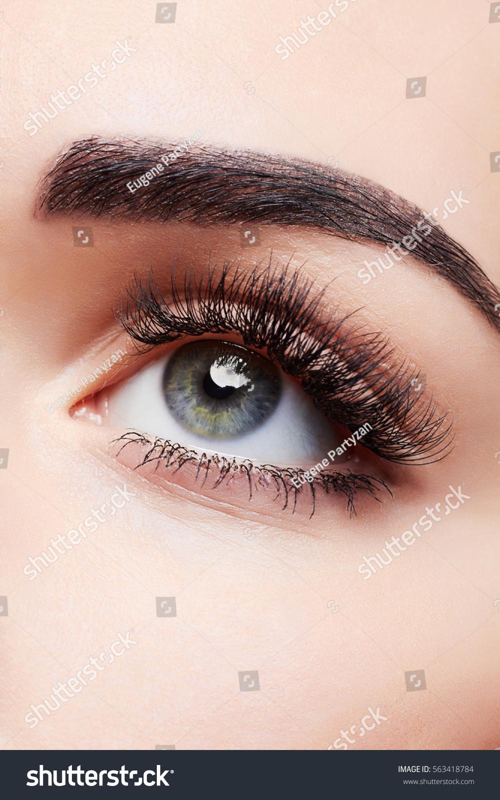Close Blue Woman Eye Beautiful Smokey Stock Photo Edit Now