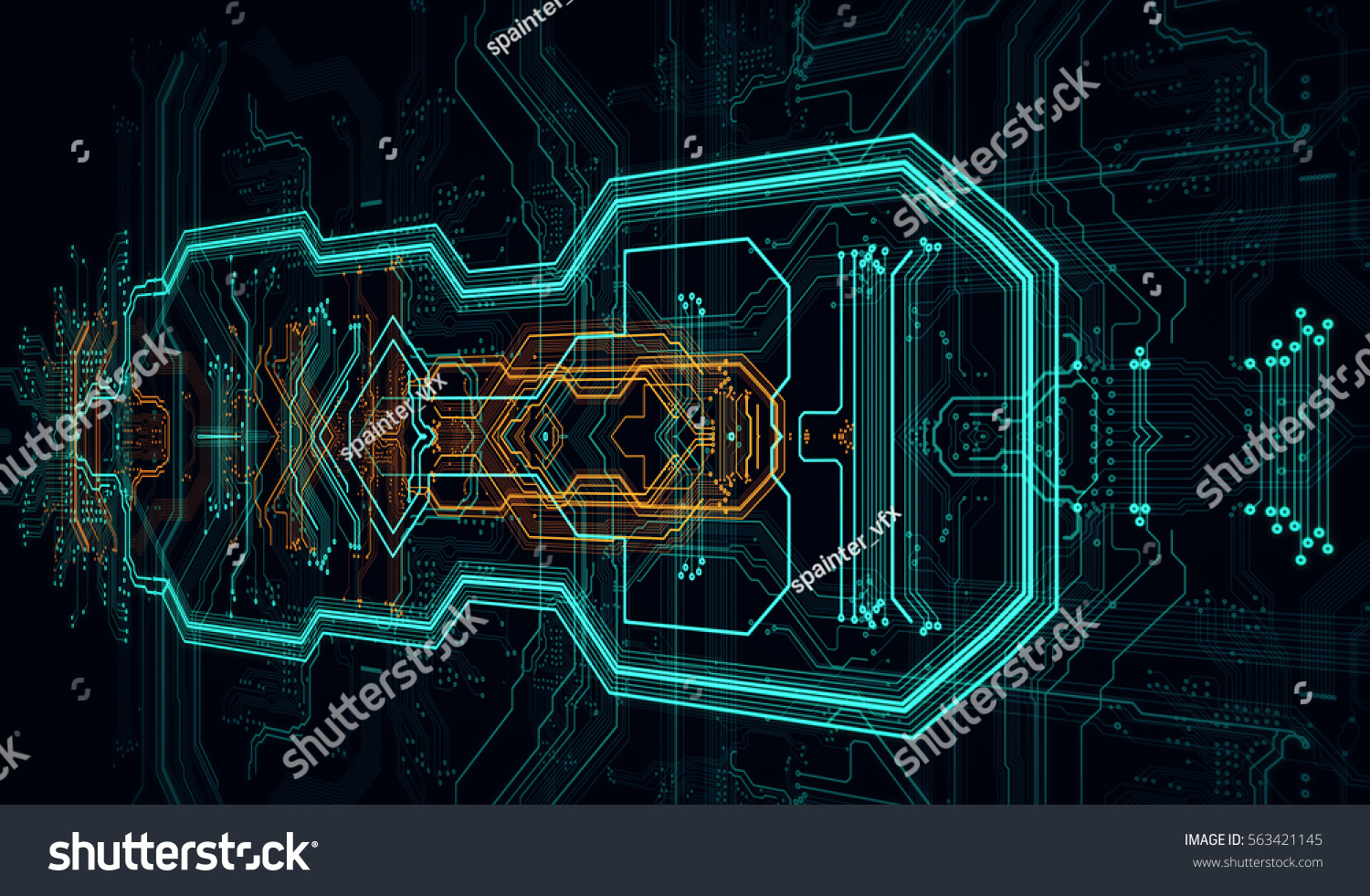 Circuit Board Background Can Be Used Stock Illustration 563421145 Designing A And Getting It Made As Digital Dynamic Wallpaper Technology 3d