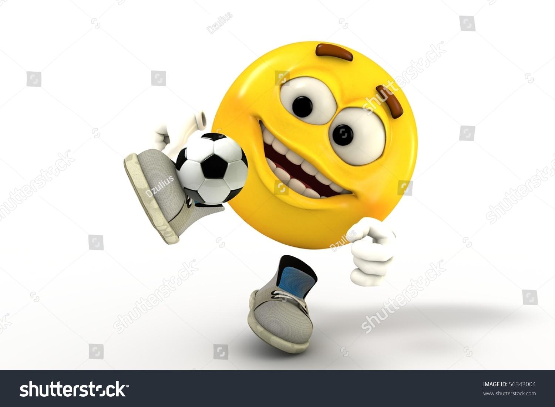 Football Player Emoticon Stock Illustration 56343004
