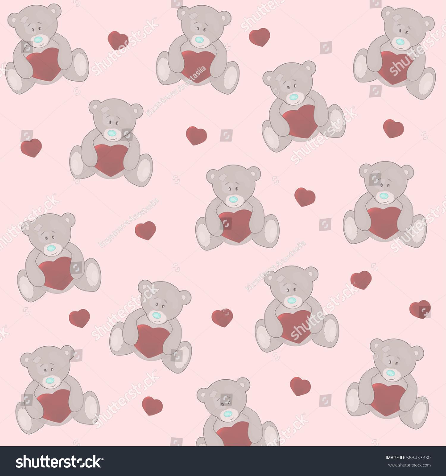 Bears Pattern Stock Illustration 563437330 - Shutterstock