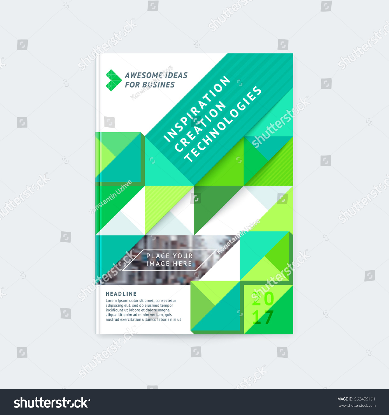 Brochure Template Layout Cover Design Annual Stock Vector 563459191 ...