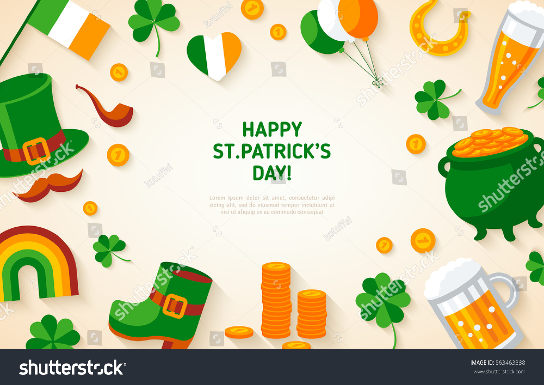 irish menu templates - happy st patricks day background irish stock vector